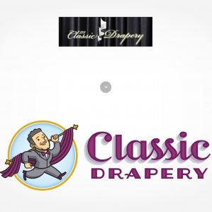 Before & after logo for Classic Drapery