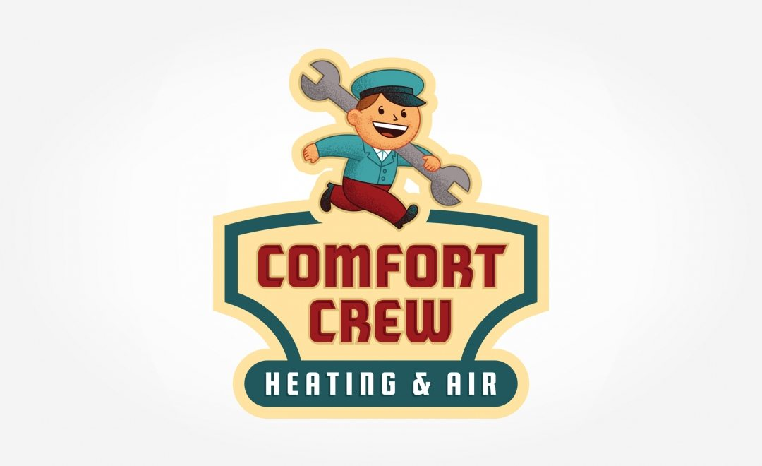 Retro logo design for a heating and air conditioning company.