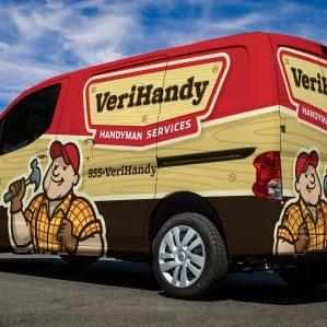 Truck wrap design and fleet branding for this NJ based handyman business.