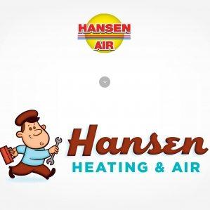Before & after logo design for Hansen Heating & Air