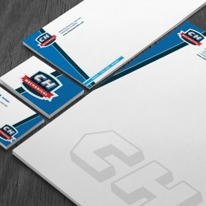 Stationery design for a contractor located in Indianapolis, IN.