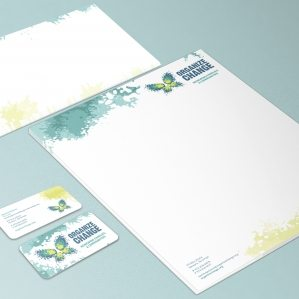 Stationery design for a non-profit organization located in Newark, NJ