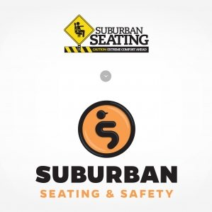 Before & after logo design for a safety seating company in Lodi, NJ.