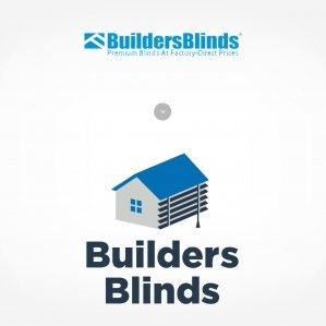 Builders Blinds logo before & after.