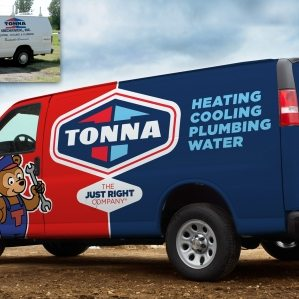 Before & after fleet branding for a hvac contractor located in Minnesota.
