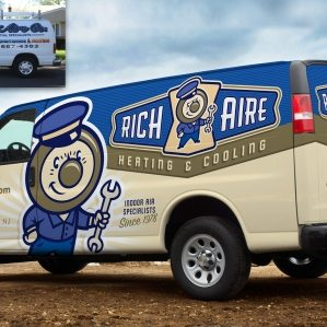 Before & after fleet branding for this Union, NJ HVAC company.