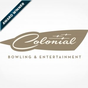 Logo design for Colonial Bowling & Entertainment in Lawrenceville New Jersey, and featured in