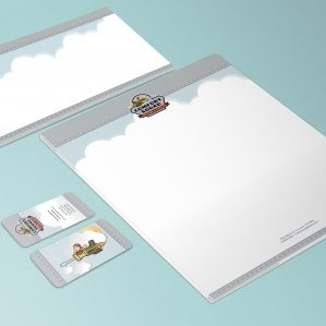 Stationery Design for Comfort Squad Heating & Cooling, HVAC company in Texas.