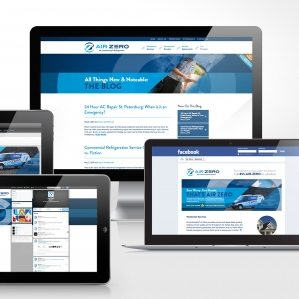 Social media design for Air Zero, HVAC company in Florida.