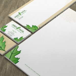 Stationery design for Jordan Taylor Landscape Contractors landscaping contractor in Leht, New Jersey.