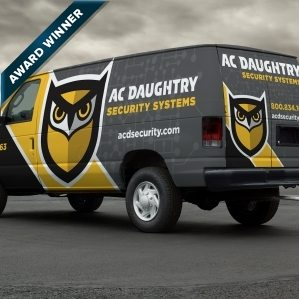 Award-winning vehicle wrap design for A.C. Daughtry Security Systems, a security company providing integrated home and business security solutions throughout New Jersey. Winner of Art Directors Club of NJ Award for Corporate & Promotional Design - Miscellaneous, Silver, 2014.