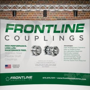 Trade Show design for Frontline Industries, Inc., a professional service company in Irvington, New Jersey.