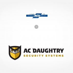 Before & After: Logo design for A.C. Daughtry Security Systems, a security company providing integrated home and business security solutions throughout New Jersey.