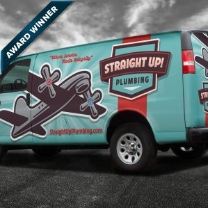 best truck wraps, award winning truck wraps, hvac truck wraps, heating and cooling truck wrap, best plumbing company logo