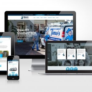 Responsive website design for Timo's Air Conditioning & Heating, a HVAC company in California.