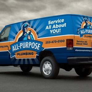 Vehicle design for a plumbing company in Tacoma, WA.