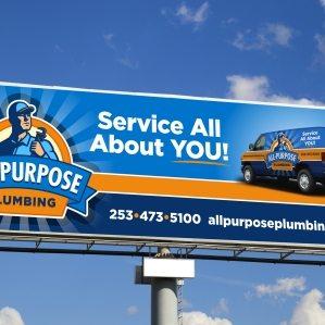 Billboard design for a plumbing company in Tacoma, WA.
