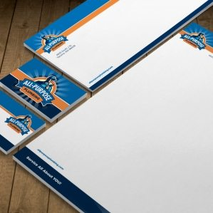 Stationery design for a plumbing company in Tacoma, WA.