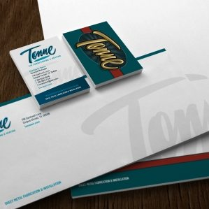 Stationery for an HVAC contractor in Corpus Christi, TX.