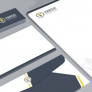 Stationery design for Vargo Associates, a New Jersey based surveying and mapping company.