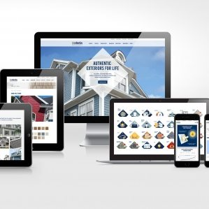 Website design and development for Exteria Building Products.