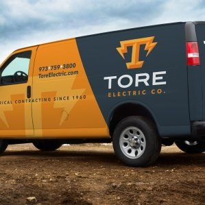 This eye-catching vehicle wrap for Tore Electric Co. makes a statement as it rolls through New Jersey. After all, the best vehicle wraps use simple, easy-to-read graphics.