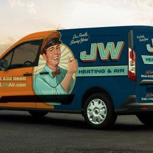 JW Heating & Air Vehicle Wrap