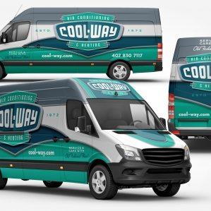 best truck wraps, HVAC truck wraps